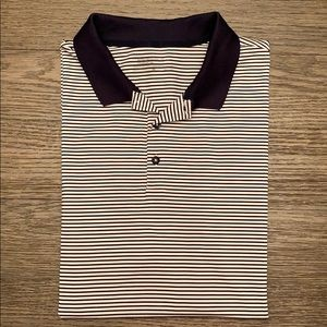 Nike Dri-Fit Golf Shirt Black & White Striped